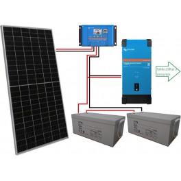 Kit fotovoltaico aislado de 1500Wh/día de 24V con inversor senoidal de 1600w para uso de fin de semana
