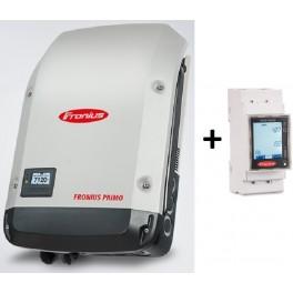 Kit autoconsumo de hasta 5kW monofásico sin inyección a red, con inversor Primo y Smart Meter, con monitorización