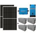 Kit solar de 3000W/día con inversor senoidal de 1600w para uso de fin de semana