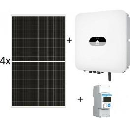 Kit autoconsumo de 1340W sin inyección a red, con inversor Huawei de 2kW y paneles