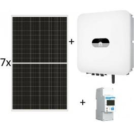 Kit autoconsumo de 2345W sin inyección a red, con inversor Huawei de 2kW