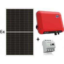 Kit autoconsumo de 2010W sin inyección a red y monitorización, con SMA Sunny Boy 2.5, Energy Meter y paneles