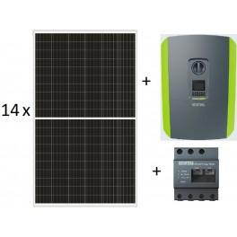 kit autoconsumo 4.690Wp trifásico inyección 0, formado por inversor Kostal Plenticore 4.2 + KSEM + paneles