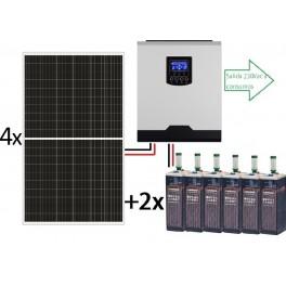 Kit solar aislado completo ECO de 6000Wh/día de 24V con inversor senoidal de 3000w para uso permanente