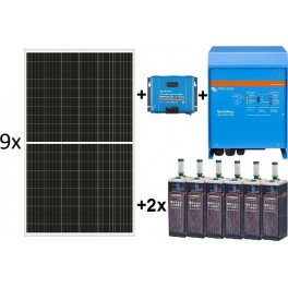 Kit solar TOP de 13.000W/día de 24V con inversor senoidal de 4500w Victron para uso permanente