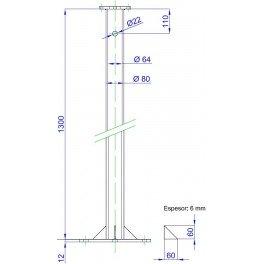 Puntera torre acople aerogenerador Bornay