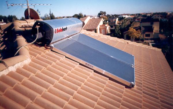 Equipo solar térmico comptacto