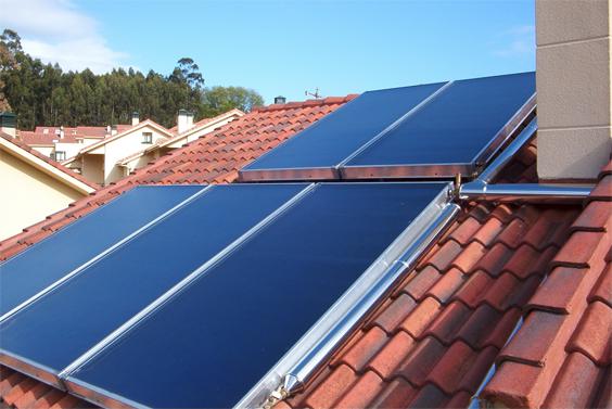 Panel solar térmico plano