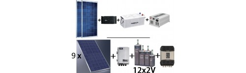 Kits solares fotovoltaicos sistemas aislados